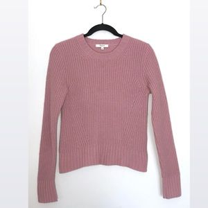 Madewell Pink Ribbed Knit Sweater Sz Small
